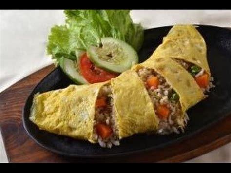 cara membuat omelet isi nasi cara memasak nasi omelet praktis dan cepat youtube