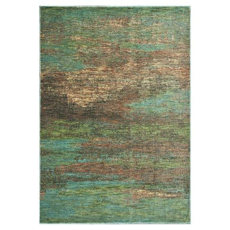 water rugs kas rugs water reflections blue 5 ft 3 in x 7 ft 7 in area rug zen506453x77 the home depot