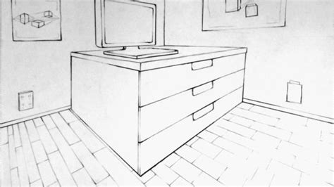 2 Point Perspective House Drawing Lesson by Simple 2 Point Perspective Drawing How To Draw A House 3d