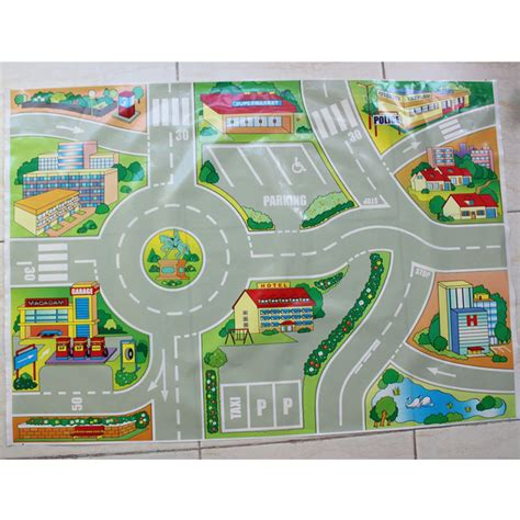 printable road maps for toy cars children s toy 71 50cm mini car traffic map and road signs