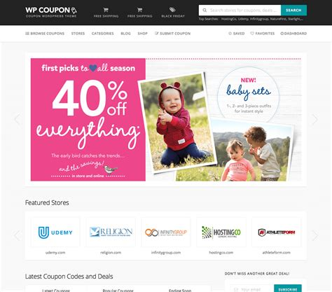 wordpress coupons theme free download