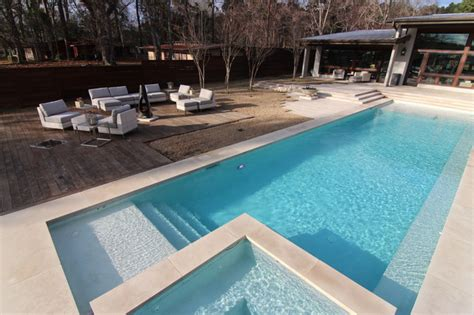 contemporary pools beatuiful modern style swimming pool on lake tyler