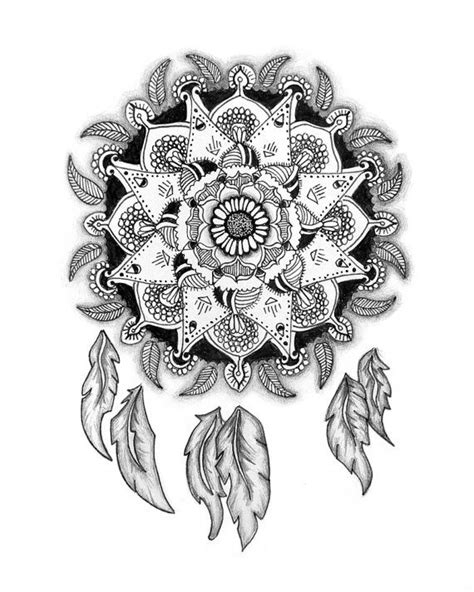 radial designs coloring pages mandala dreamcatcher nature pattern feathers radial