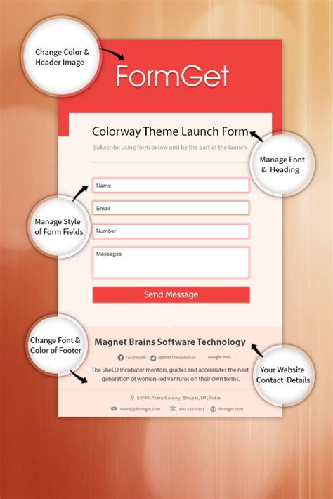 form website template data collection form without website formget