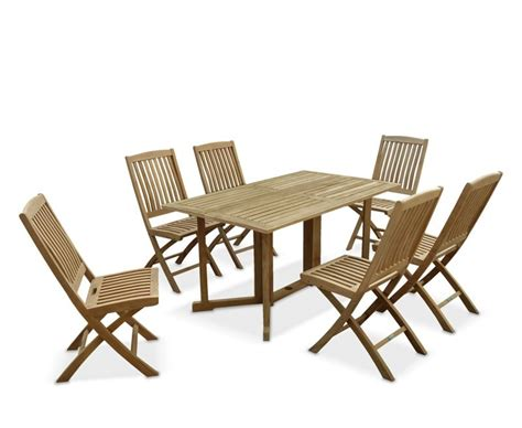 Shelley gateleg rectangular garden table and chairs