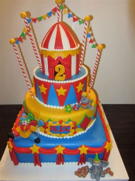 carnival themed cakes 30 circus birthday party cake ideas circus birthday