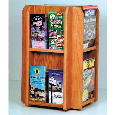 Rotating Magazine Rack by Rotating Magazine Rack 8 Pocket In Floor Magazine Racks
