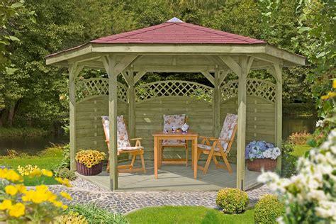 6 eck pavillon delta gartenholz 6 eck pavillon 216 490 cm