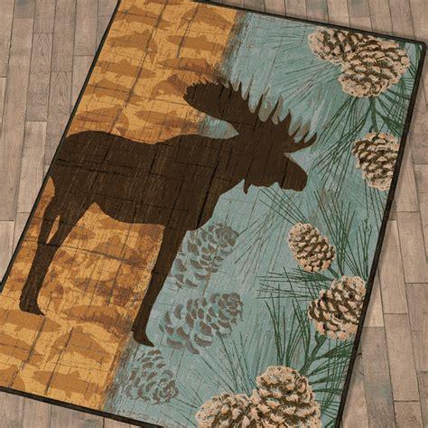 moose rug yellowstone park ii moose rug 3 x 4
