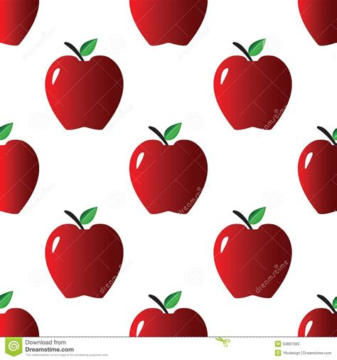 pattern apple background red apple pattern stock vector illustration of color