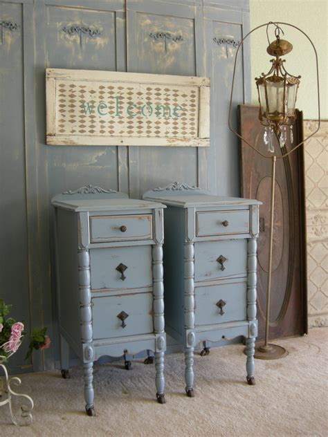 vintage shabby chic bedroom furniture antique pair of nightstands chic bedroom furniture shabby