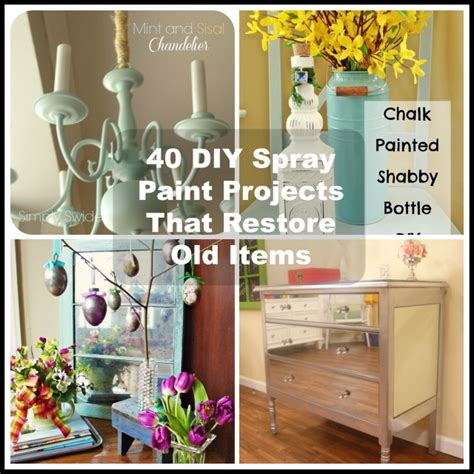 diy spray paint projects 40 diy spray paint projects that restore items