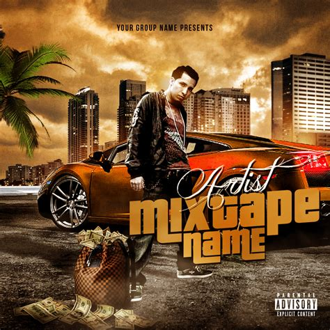 mixtape cover template 13 turnt up psd images dj pauly d jersey