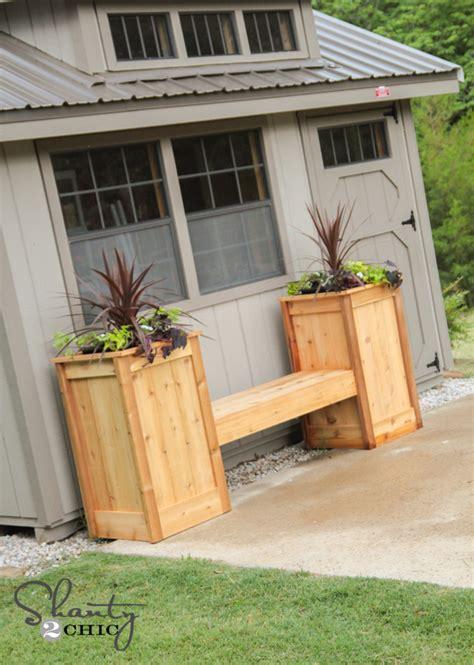 planter box bench plans free diy planter box bench shanty 2 chic