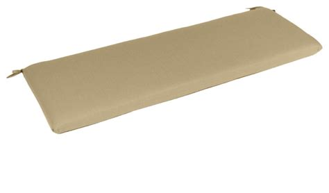 bench cushion 48 x 18 sunbrella bench cushion spectrum sand 48 quot w x 18 quot d x 2 quot h