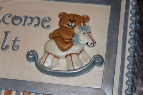 Rocking Baby Shower Cake by Teddy Rocking Baby Shower Cake Cakecentral