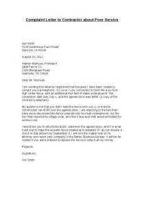 Business Letter Unsatisfactory Service Complaint Letter To Contractor About Poor Service Hashdoc