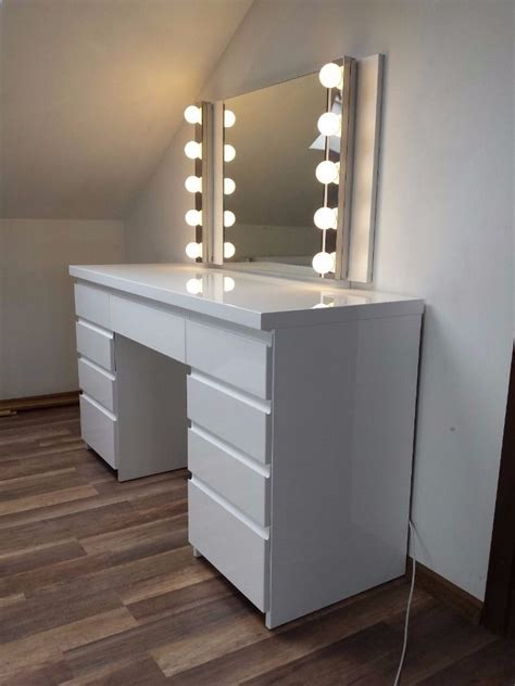 Vanity Mirror Ideas by Modern White High Gloss Dressing Table Bedroom Design Ideas