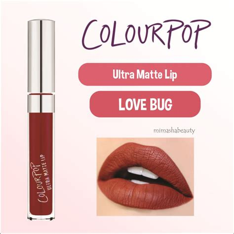 Colourpop Ultra Matte Bug Colourpop Lipstik Kosmetik jual colourpop ultra matte lip liquid lipstick bug