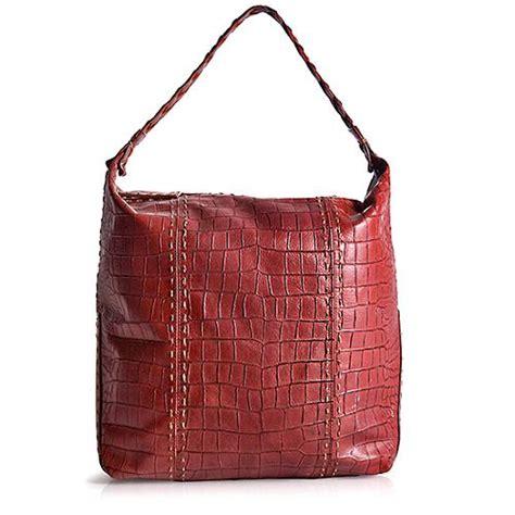 Longorias Prada Purse by Carlos Falchi Embossed Leather Hobo Handbag