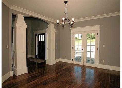 Modern concept dark hardwood floors grey walls the white trim gray walls and dark wood floors