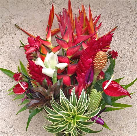 quot best of kauai quot tropical flower arrangement features lots