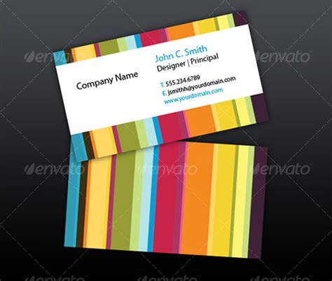 colorful business card template 25 beautifully colorful business card templates design