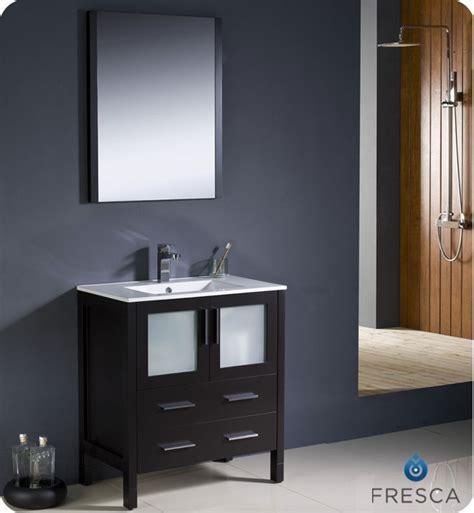 "Fresca Torino 30"" Espresso Modern Bathroom Vanity with"