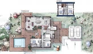 maison ossature bois 224 233 tage 184 m 178 5 chambres terrasse