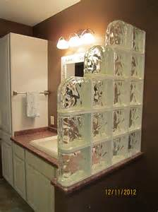 glass cubes for bathroom glass blocks used in bathrooms glass block walls in the