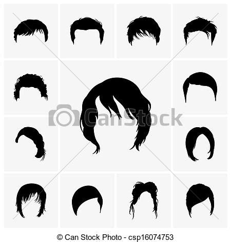 graphics design haircuts clipart vector of hair styles set of hair style icons