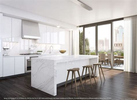 white marble kitchen island tribeca s franklin place officially back with renderings