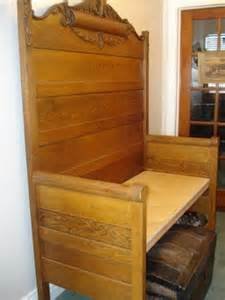 a bench from a headboard and footboard