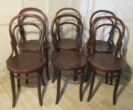 Thonet Bistro Chair Set Of 6 Thonet Bistro Bentwood Chairs Antiques Atlas