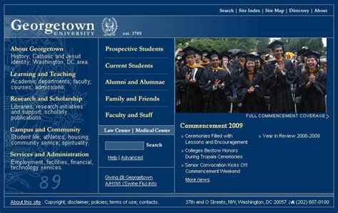 Average Gpa For Georgetown Mba by Georgetown Washington Dc Average Sat And