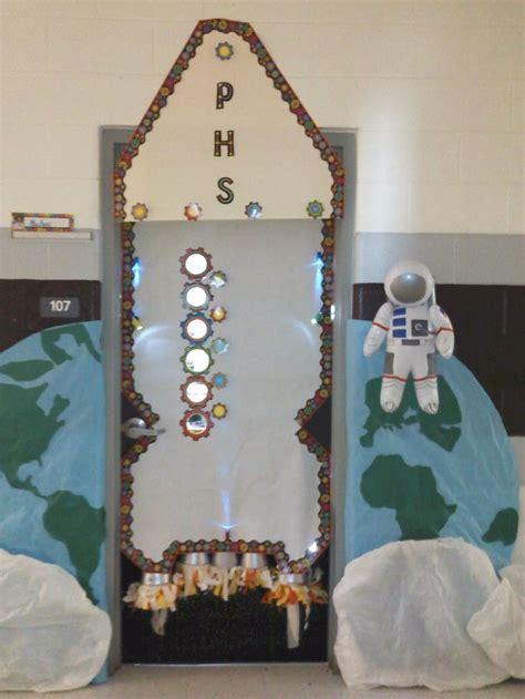 space themed door decorations welcoming door for space theme classroom stuff