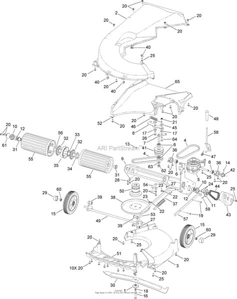 Sn Lower 1 toro 02656 prostripe 560 mower 2013 sn 313000001 313999999 parts diagram for lower assembly