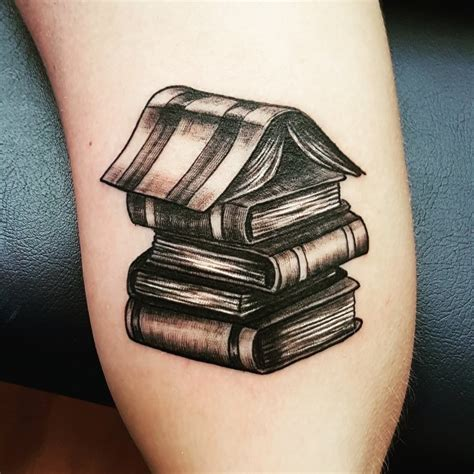 stack of books tattoo whistler company stack of books