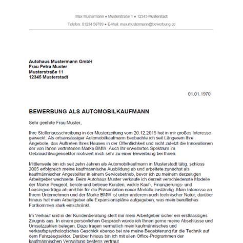 Lebenslauf Vw Bewerbung Bewerbung Als Automobilkaufmann Automobilkauffrau Bewerbung Co