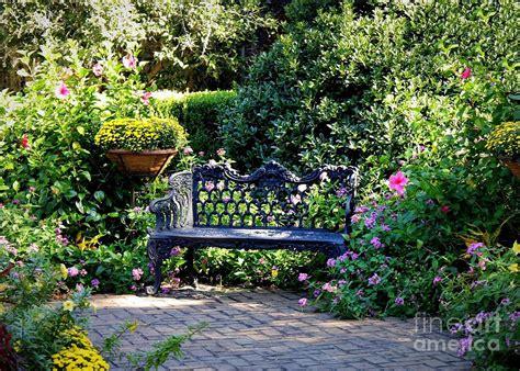 Bath Shower Bench cozy southern garden bench photograph by carol groenen
