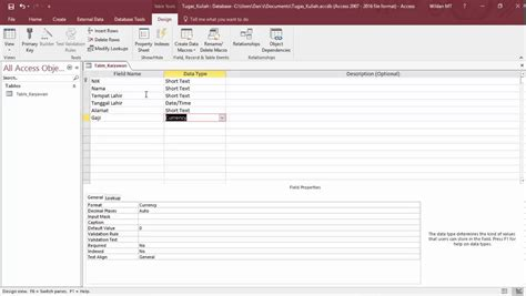 tutorial membuat aplikasi database dengan excel tutorial cara membuat table dan query database dengan ms