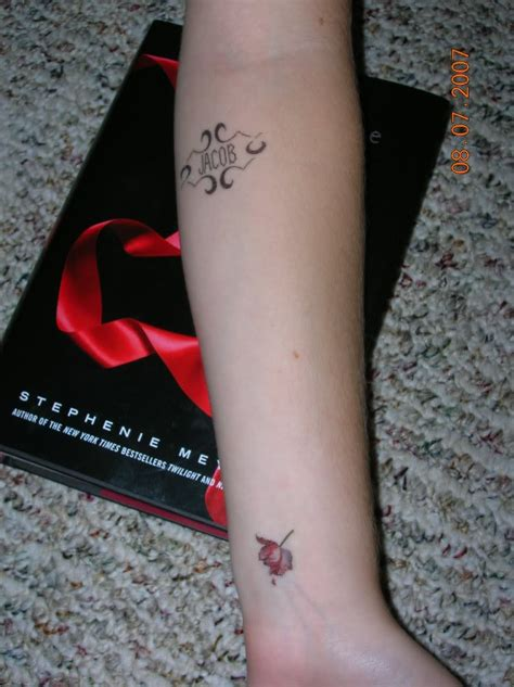 twilight tattoo twilight saga inspired tattoos jacob tulip