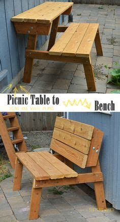 convert a bench plans benches that convert to picnic table easier to make than