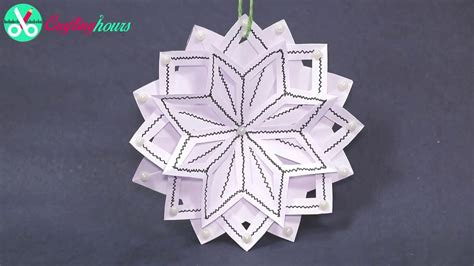 How To Make 3d Snowflakes Out Of Paper - 3d snowflake diy tutorial how to make 3d paper