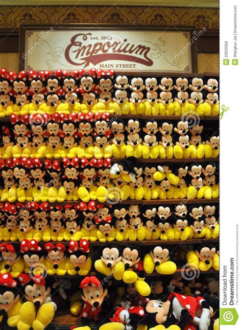 Minnie Mouse Bedroom mickey and minnie mouse plush in disney store editorial