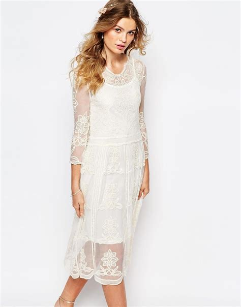 Midi Dress Bohemian Ferani navy placement lace midi dress this would do the if we go bohemian garden