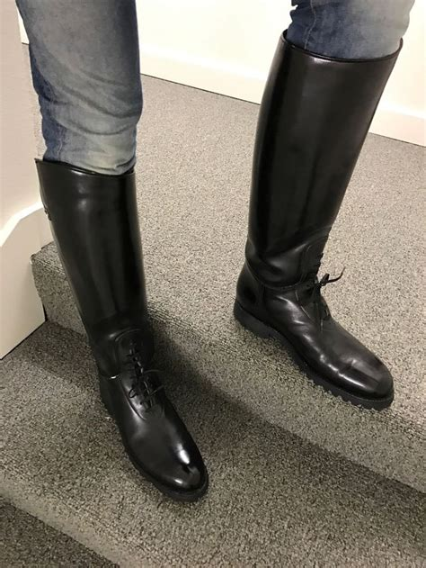 laced motorcycle boots dehner motorcycle high shine patrol bal laced cop boots