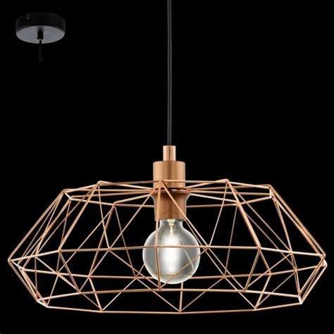 Copper Ceiling Lights Uk Eglo 49488 Carlton2 1 Light Ceiling Pendant Copper