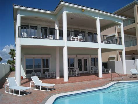south padre island house rentals with pool hover in paradise at pat s seagull beachfront home with