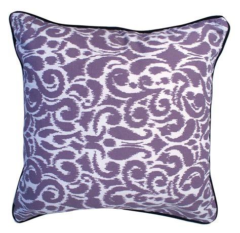Purple Throw Pillows by Lavender Purple White Medallion Damask Reversible Throw